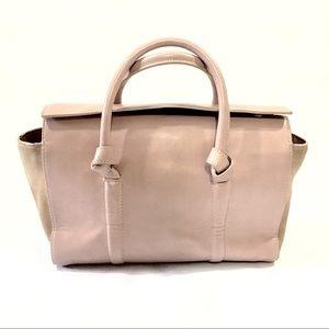 Zara Basic Collection Pink Mauve Leather Handbag